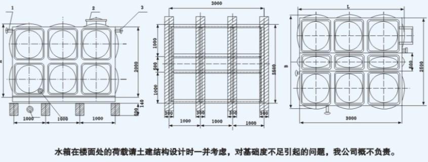 不绣纲方形水箱十顿内部结构图